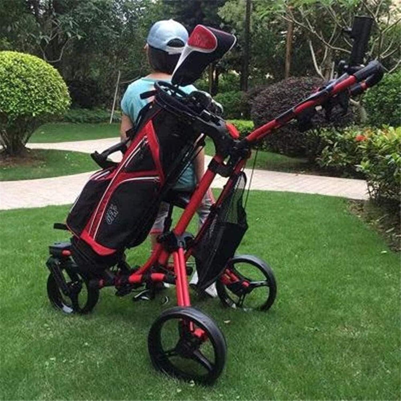 TUHFG half Golf Push Cart 3 Wheel ,Close Folding Pus Elegant Pull
