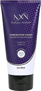 NxN Undercover Agent Liquid Powder Anti-Sweat Absorbent Body Cream Natural Formula with Aloe & Vitamin E, 3 Oz