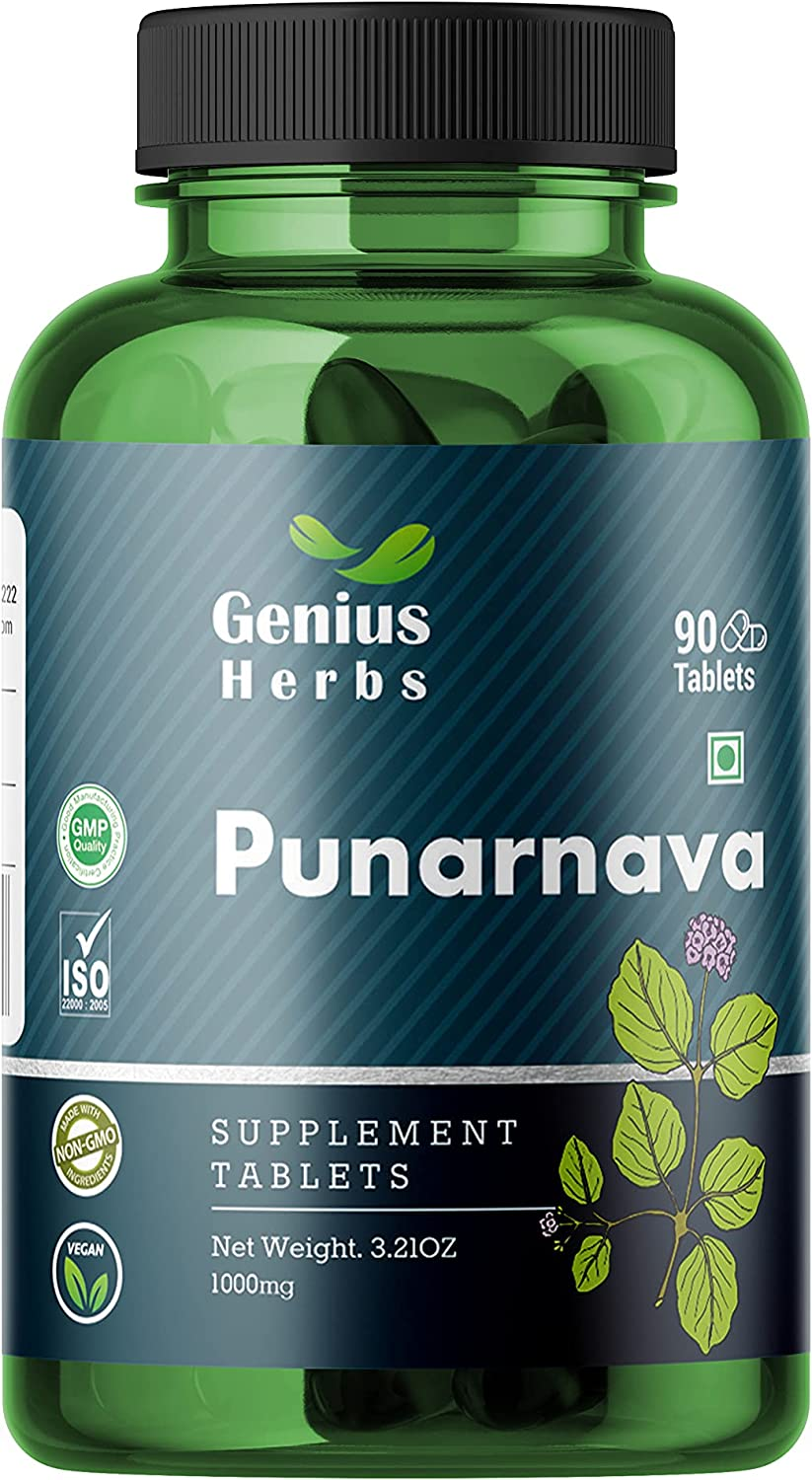 Genius Directly managed store Herbs Punarnava online shop Tablets 1000mg Men Health for Supplement