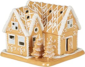 Villeroy & Boch Winter Bakery Gingerbread Mansion, Decorative Tea-Light Holder Maoffrom Hard-Paste Porcelain, Brown/White,...