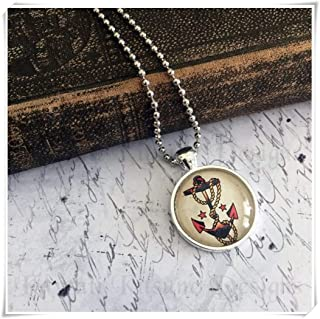 sailor jerry anchor necklace
