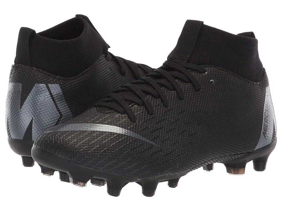 Nike Kids Superfly 6 Academy MG Soccer (Little Kid/Big Kid) (Black/Anthracite/Black/Light Crimson) Kids Shoes