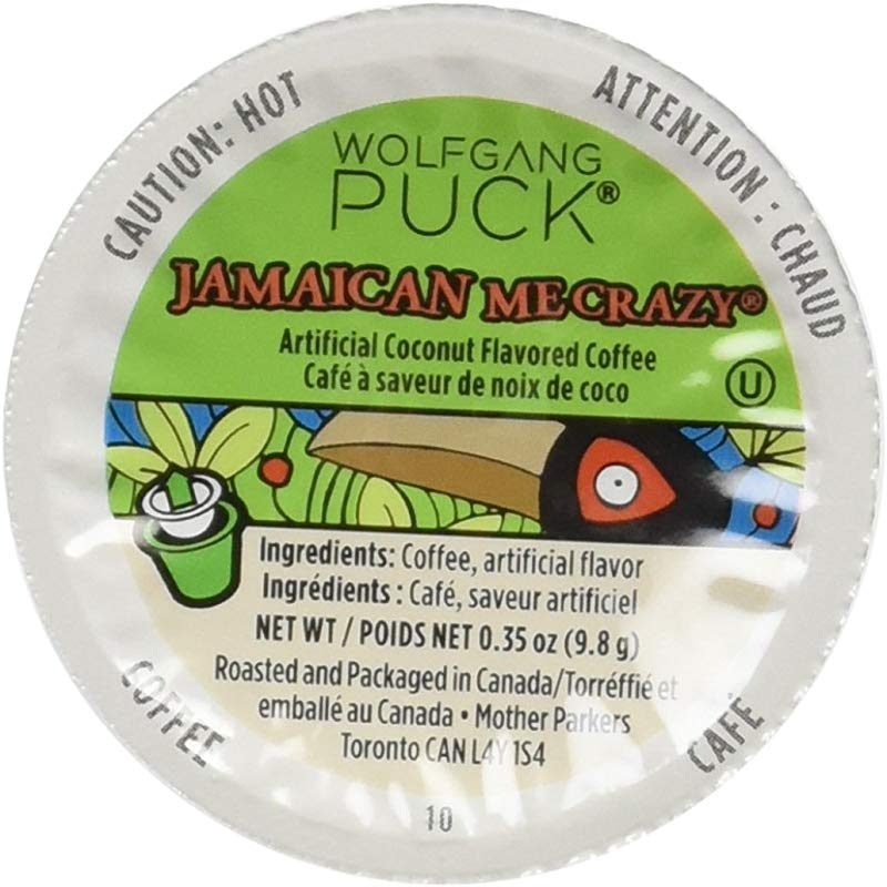 Wolfgang Puck Jamaican Me Crazy K Cup Coffee 96 Count Case Compatible With All Keurig K Cup Brewers Including Keurig 2 0