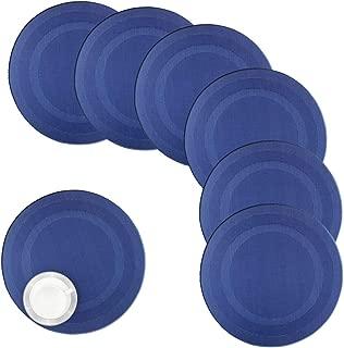 round vinyl placemat
