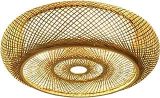 Prettyia Handmade Bamboo Chandelier Rattan Lampshade Restaurants Lantern Ceiling Lamp Light Shade Cafe Bar Hotel Decorativ...