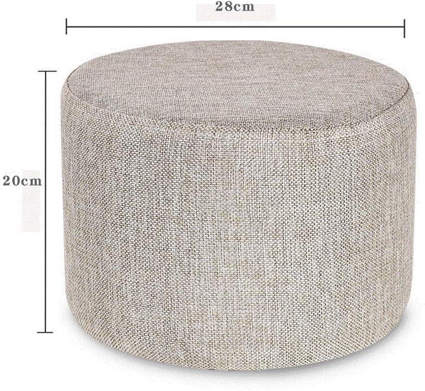 YUMUO Tissu Canapé Tabouret Moderne Tissu Rond Repose-Pieds pour Maison Salon Loisirs Pouf F0104 (Couleur: Rose) 2