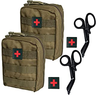 Krisvie Tactical EMT Medical Pouch 1000D Nylon Utility Bag with First Aid Patch and Shear
