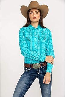 7e86e54ee2709 ARIAT Women s Real Essence Plaid Long Sleeve Western Shirt - 10025440