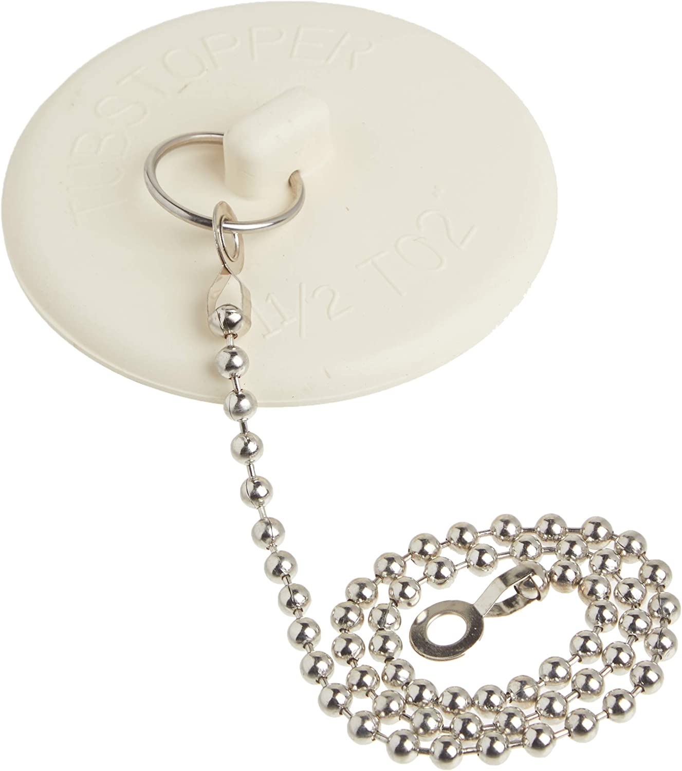 Free Shipping New DANCO Rubber Tub 67% OFF of fixed price Stopper Chain White 80783 with