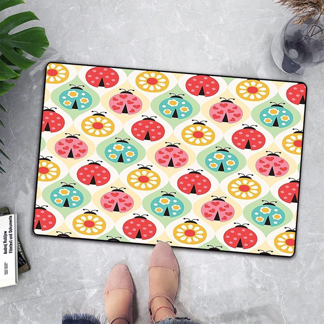 Ladybugs Decor Free Shipping New Door Mat Patter Cartoon Geometric Lovely Jacksonville Mall