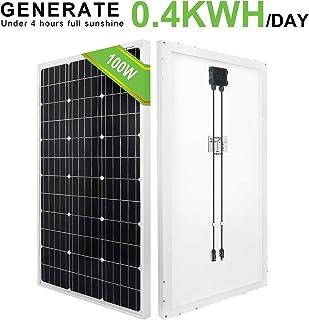 ECO-WORTHY panel solar monocristalino de 100 W 120 W 12 V para caravana, barco, hogar, jardín (100W)