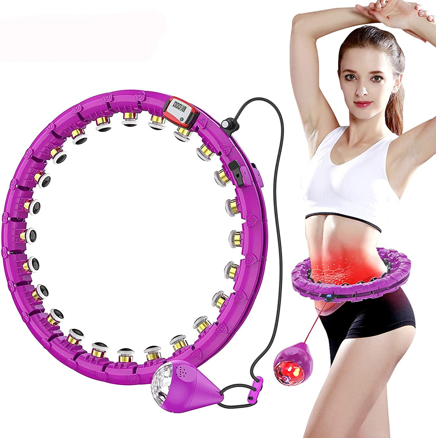 Year-end annual account MUZILIYAO Jacksonville Mall Weighted Exercise Hoop Light Gravi Folorful 360°LED