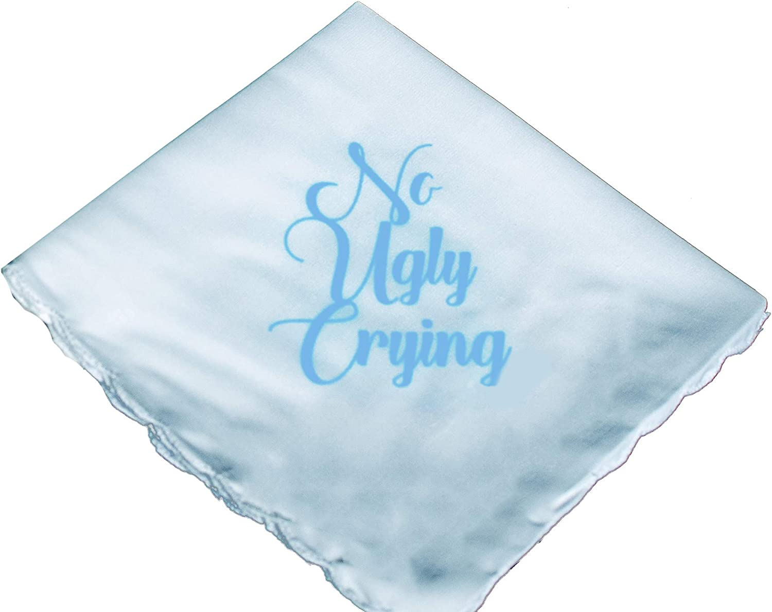 No Ugly Crying Wedding Handkerchief With Included Gift Box by Wedding Tokens- Perfect Bridesmaid Gift