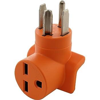 AC WORKS [AD1450630] Range/RV/Generator 14-50P Plug to 6-30R 30 Amp 250  Volt HVAC Connection Adapter - - Amazon.comAmazon.com