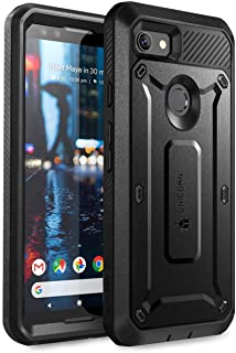 SUPCASE Full-Body Rugged Holster Case for Google Pixel 3, with Built-in Screen Protector for Google Pixel 3 2018 Release, Unicorn Beetle PRO Series - Retail Package (Black)