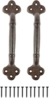 Houseables Cast Iron Door Handle, Rustic Pull, 8-¾