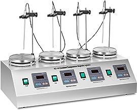 میکسر مغناطیسی آزمایشگاه ترموستاتیک دیجیتال و آزمایشگاه Hotbuy 4 Headses Stirrer Magnetic Stirrer Multi Unit Stirrer Laborator و Hotcase 0-1600 RPM قابل تنظیم با همزن مغناطیسی قابل تنظیم