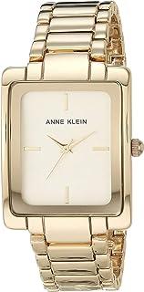 ساعة كوارتز للنساء من ان كلاين بعرض انالوج وسوار من الستانلس ستيل، AK-2994CHGB