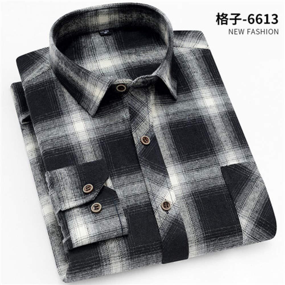CSDM Camisa de Hombre Primavera otoño Franela Hombres Camisas de Manga Larga Hombres S Camisa a Cuadros Slim Fit Camisas 9 Colores: Amazon.es: Hogar