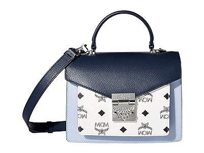 MCM Patricia Visetos Leather Block Satchel Small (Mood Indigo) Wallet