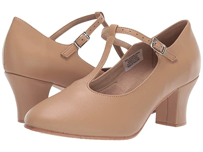 Vintage Style Shoes, Vintage Inspired Shoes Bloch Roxie Tan Womens Dance Shoes $51.50 AT vintagedancer.com