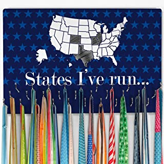 Gone For a Run Hooked On Medals Hanger & Award Display | Running The USA Color in States Map | Multiple Colors