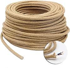 color amarillo M/áxima seguridad a prueba de golpes. Klartext 3 x 0,75 mm, 3 m Cable textil trenzado para iluminaci/ón
