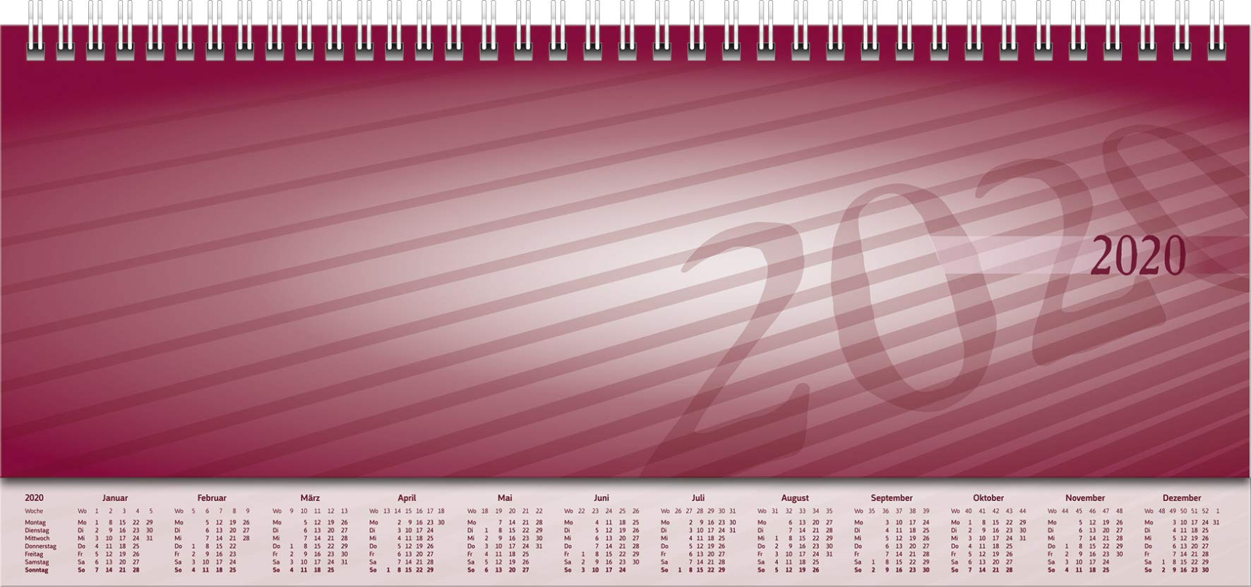 Rido/idé 703651101 mesa Calendario/Horizontal Agenda Modelo ...