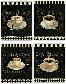 European Coffee Cafe'- Fine Art Wall 4 Set- 8 x 10