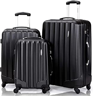 Giantex Luggage Sets 3 Piece Suitcase Carry on Luggage Hardside with Lock 28 Inch 24
