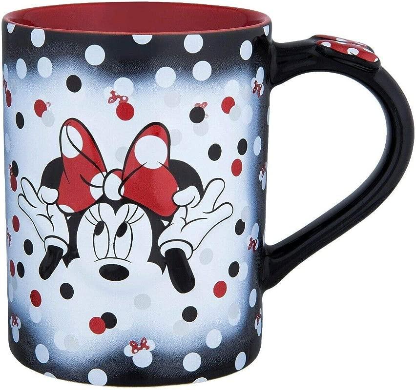 Disney Minnie Mouse Bows Polka Dots Ceramic Coffee Mug