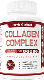 Premium Multi Collagen Peptides Capsules (Types I,II,III,V,X) - Anti-Aging, Healthy Skin & Hair, Strong Joints, Bones & Nails - Hydrolyzed Collagen Protein Supplement for Women and Men - 30 Day Supply