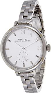 Marc by Marc Jacobs Women's Silver Dial Stainless Steel Band Watch - MBM3362