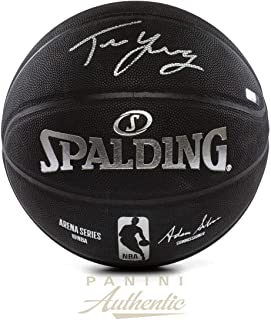 6bf5640e4 Trae Young Signed Basketball - Black Spalding Replica ~Open Edition Item~ -  Panini Authentic