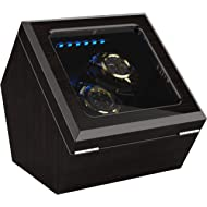High End Double Watch Winder for Rolex with Soft Flexible Watch Pillows, Blue Led Light, Open and...