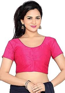 Choli Top & Saree Blouse Readymade Indian Silk & All Sari Color Matching Blouse for Women Choli