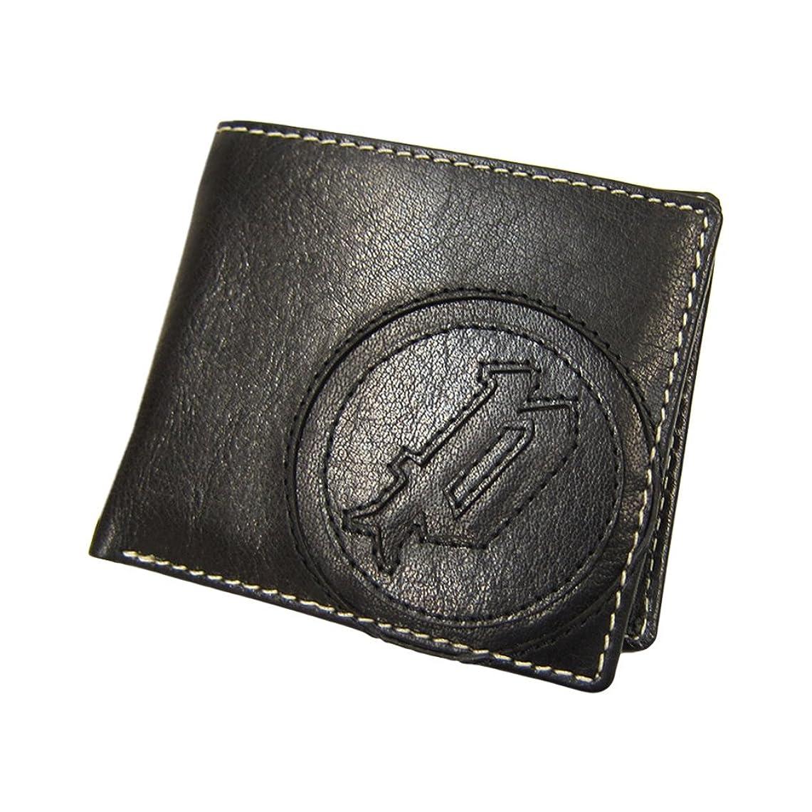 手のひらかんがいかんがい[ポリス]POLICE 二つ折り財布 バッファローレザー 財布 BASIC IV BK/SV 国内正規代理店商品 (10)
