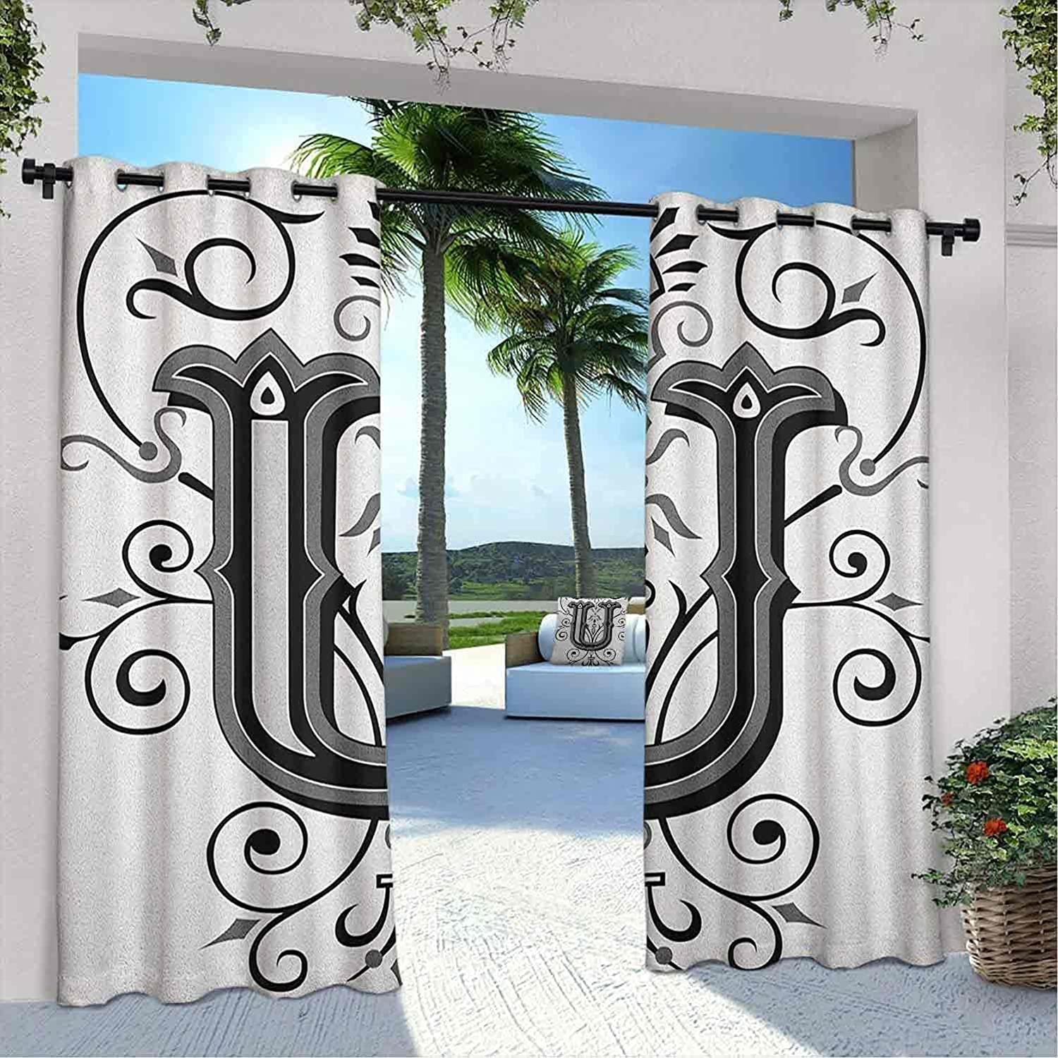 Printed Outdoor Letter Shipping included U Ranking TOP12 Rococo Style Victorian Curtain