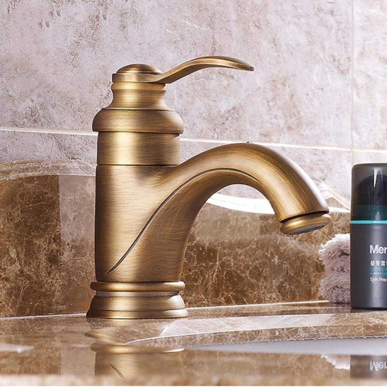 Waschtischarmaturen Antike Messing Waschbecken Wasserhhne Einzigen Handgriff Deck Montiert Bad Waschen Hei Kalt Mixer Wasserhahn