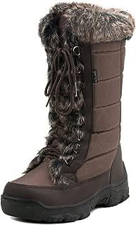 Women's Mid-Calf Snow Boots E7623 Chocolate 6.5US/37EU