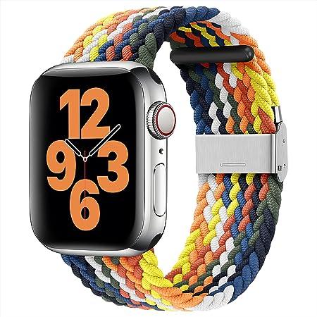 youmaofa Compatible con Correa Apple Watch 38mm 40mm, Ajustable Trenzada Estirable EláStico Deportiva Repuesto Correa con Hebilla para Iwatch Se/Series 6 5 4 3 2 1, Vistoso