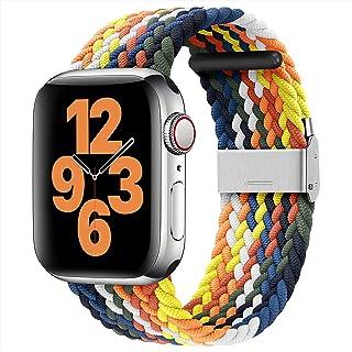 youmaofa Compatible con Correa Apple Watch 42mm 44mm, Ajustable Trenzada Estirable EláStico Deportiva Repuesto Correa con ...