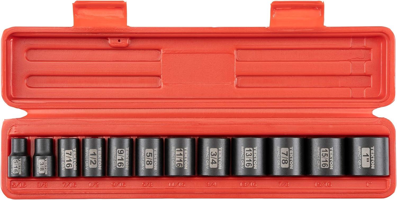 TEKTON 3/8-Inch Drive 12-Point Impact Socket Set