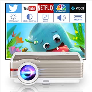 Indoor Outdoor Projector for Movie/Gaming, Multimedia HD 1080P Digital LED LCD Home Theater Cinema Video Projectors with H...