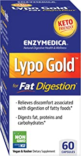 Enzymedica, Lypo Gold, Keto Supplement to Support Fat Digestion, Vegan, Non-GMO, 60 Capsules (60 Servings)