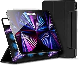 Xingmeng iPad pro 11 ケース 2021 第三世代 2020 第二世代 用 三つ折りスマート 磁気吸着 オートスリープ ワイヤレス充電可 留め具付き 2モードスタンド