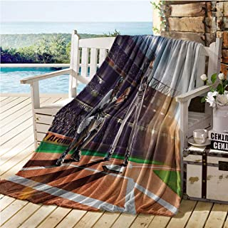 Teen Room Throw Blankets,Professional Baseball Players in The Stadium Playing The Game Pich Sports Print,Thermal Blanket Multicolor 40