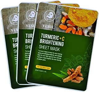 YESUL Turmeric +C Brightening Sheet Masks, 3 ct
