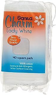 Sanita Charm Make Up Square Pads, 40 Counts