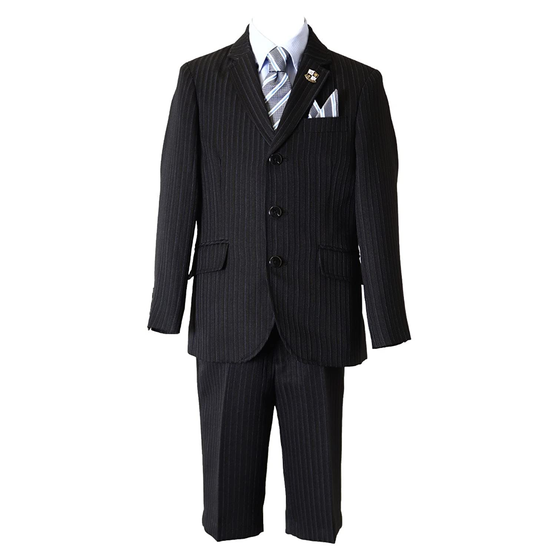 入学式 スーツ 男の子 三つボタン ブラックフォーマル 5点セット リバーシブル ヒロミチナカノ[363206102]